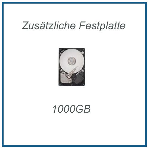 Zusätzliche Festplatte Seagate 1 TB (1000GB) 7200rpm, inkl. Einbau und Sata3 Kabel