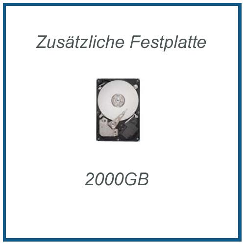 Zusätzliche Festplatte Seagate 2 TB (2000GB) 7200rpm, inkl. Einbau und Sata3 Kabel